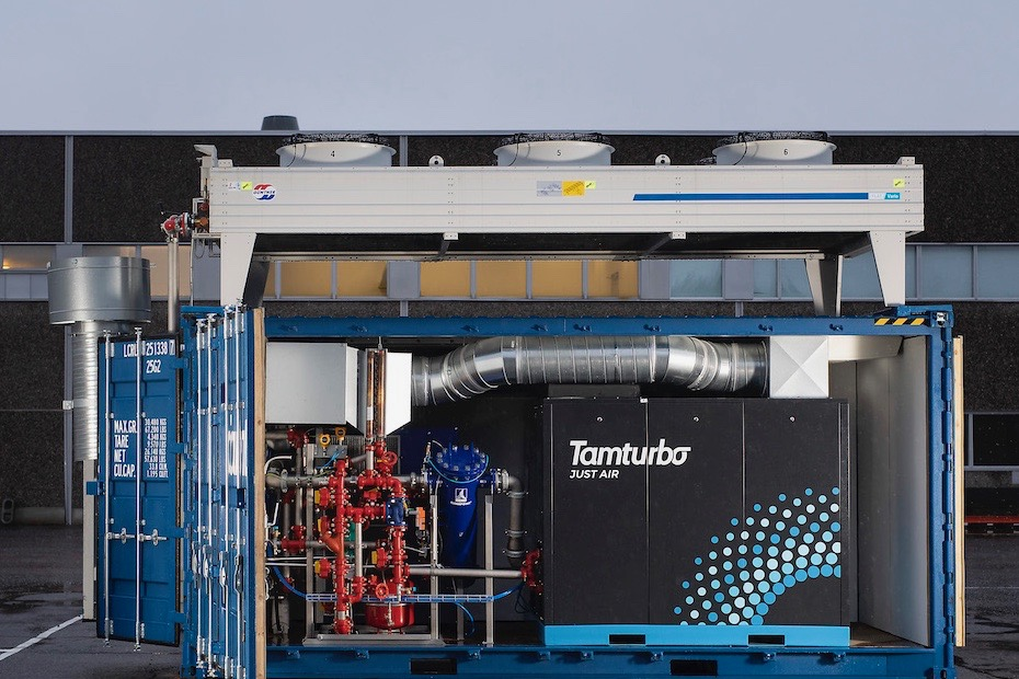 Tamturbo Modular Compressor Room with turbo compressor TT325