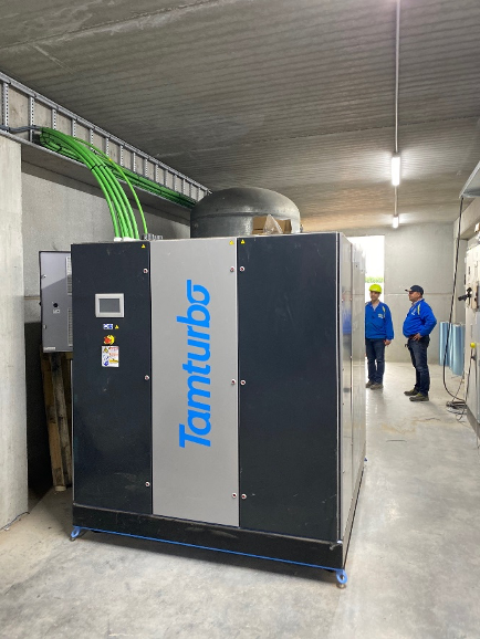 Tamturbo turbo compressors at Mydibel site