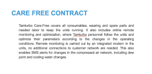 Care-Free Service Contract displayed