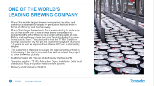One of the largest brewing companies in the world