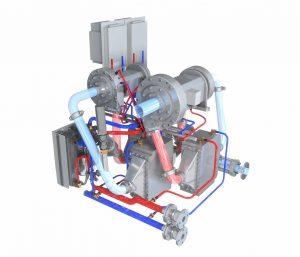 Tamturbo compressor liquid cooling system