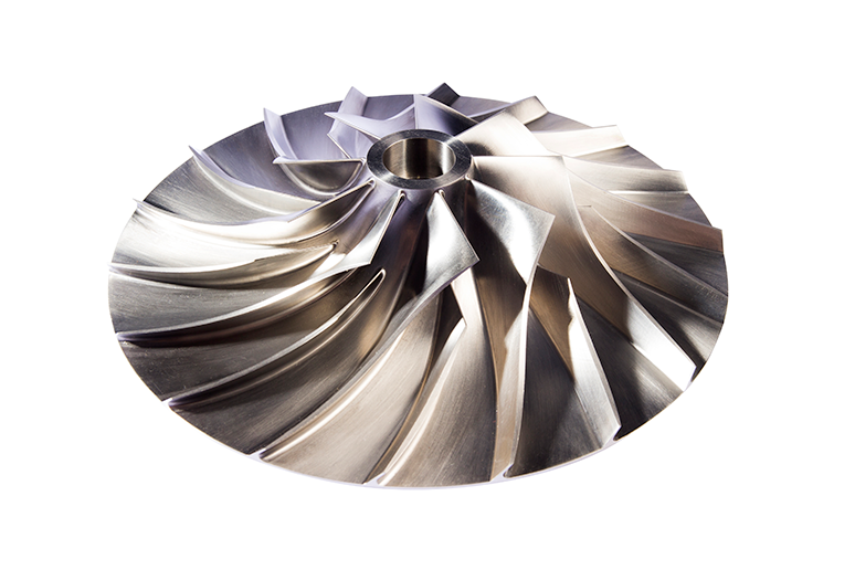 3d image of Tamturbo turbo compressor impeller